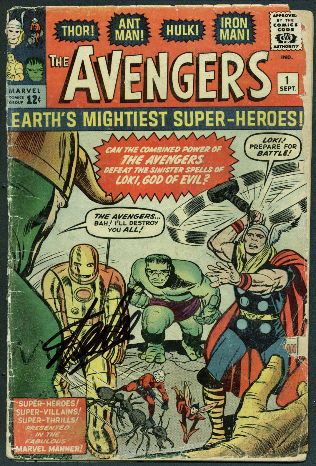 Stan Lee Authentic Signed The Avengers #1 Comic Book (1963) PSA/DNA #Z04187