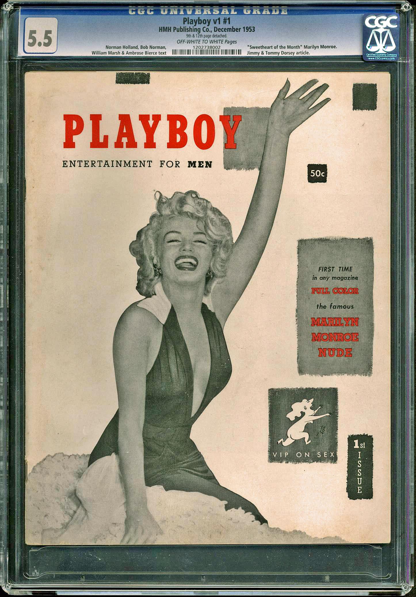 Playboy Magazine December 1953 ( Marilyn Monroe First Issue)