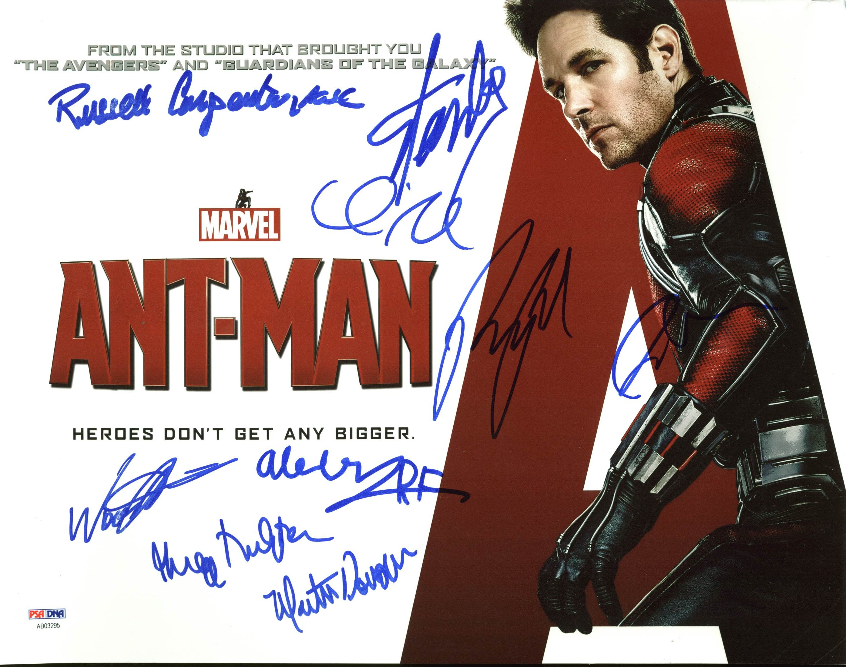 Antman (9) Stan Lee, Paul Rudd Authentic Signed 11X14 Photo PSA/DNA #AB03295