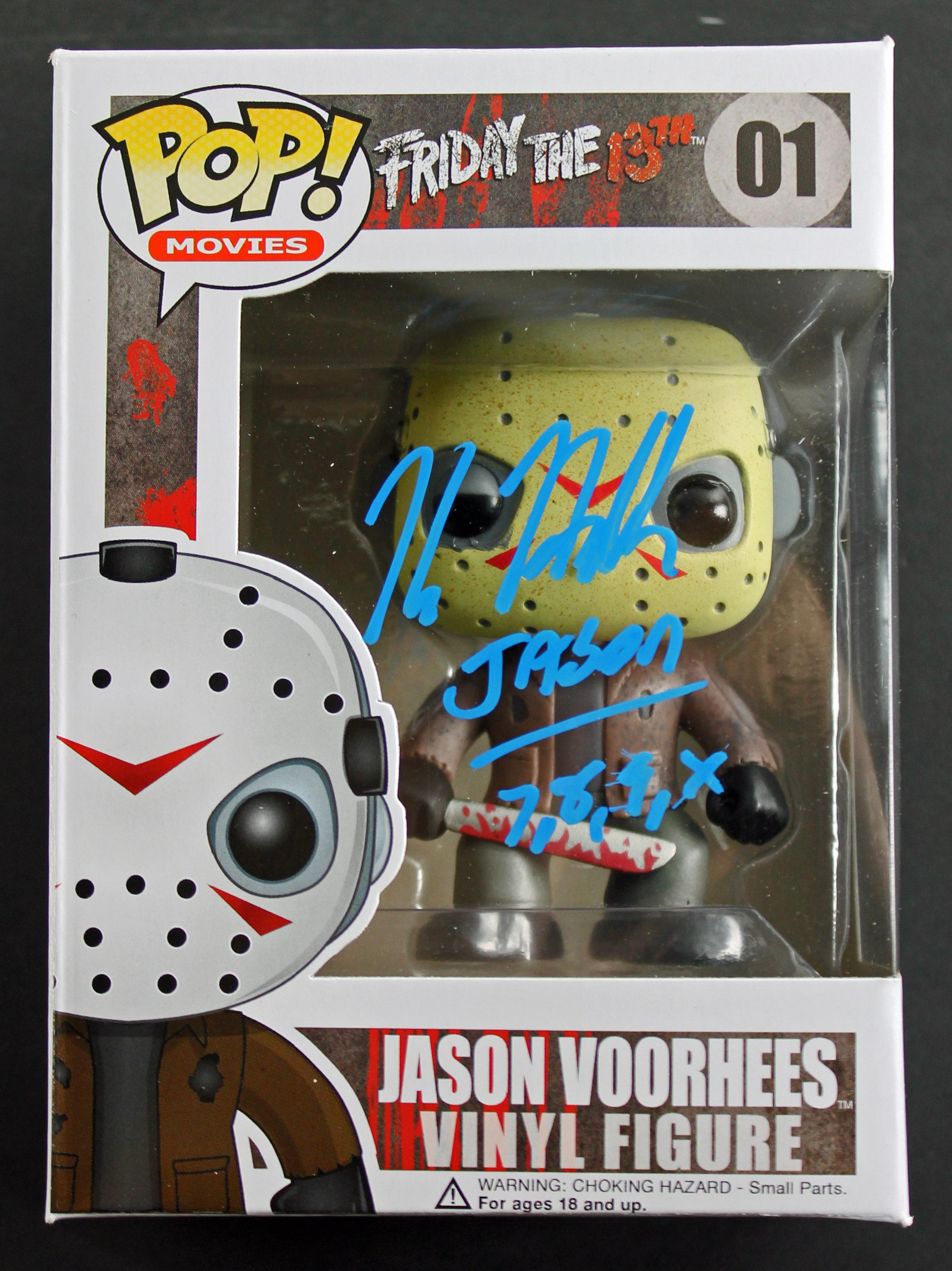 "Kane Hodder ""Jason 7,8,9,X"" Signed Friday The 13th Funko Pop Vinyl Figure PSA"