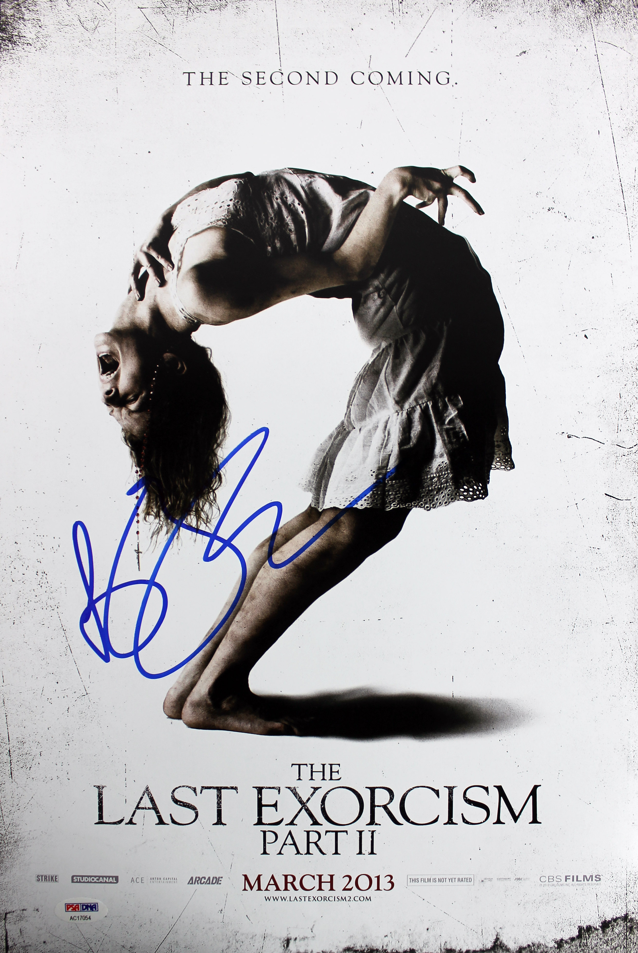 Ashley Bell The Last Exorcism Part II Authentic Signed 12x18 Photo PSA #AC17054