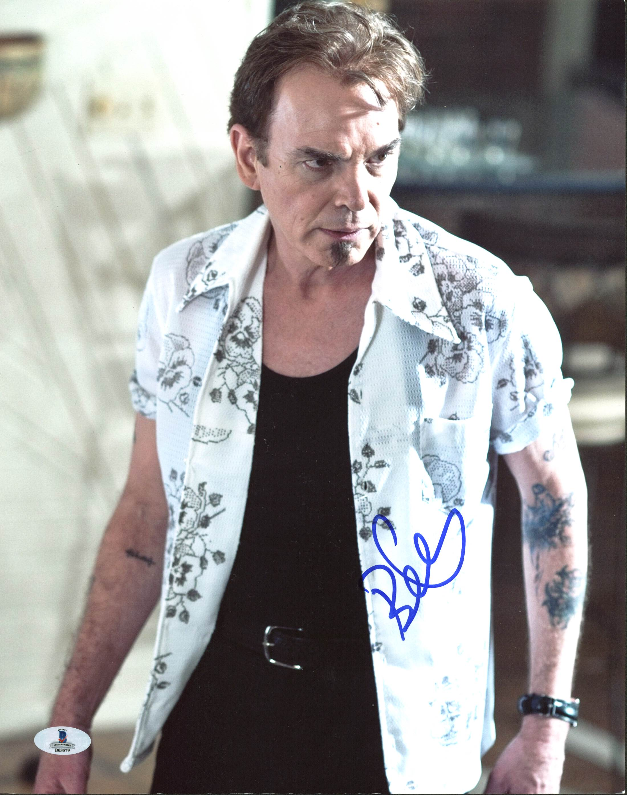 Billy Bob Thornton The Baytown Outlaws Authentic Signed 11X14 Photo BAS #B03579
