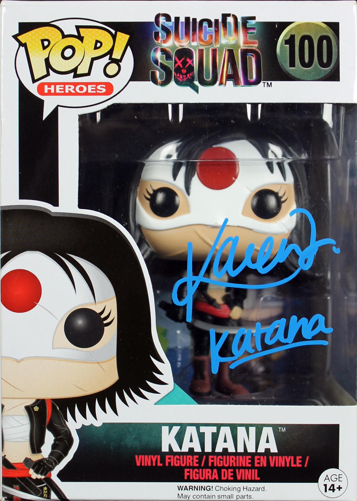 "Karen Fukuhara Suicide Squad ""Katana"" Signed Funko Pop Vinyl Figure BAS #B03459"