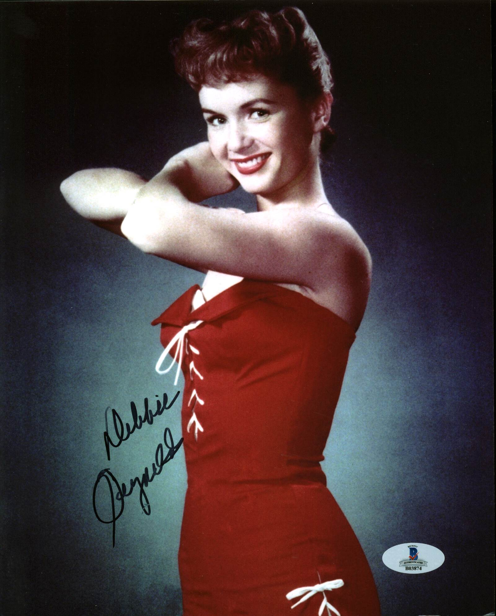Debbie Reynolds Singin' in the Rain Authentic Signed 8X10 Photo BAS #B03874