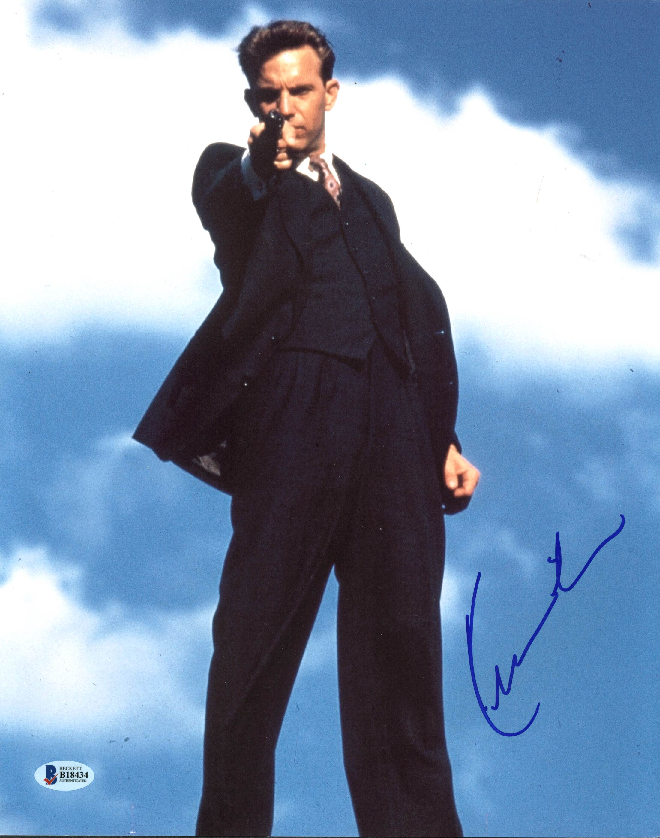 Kevin Costner The Untouchables Authentic Signed 11X14 Photo BAS #B18434