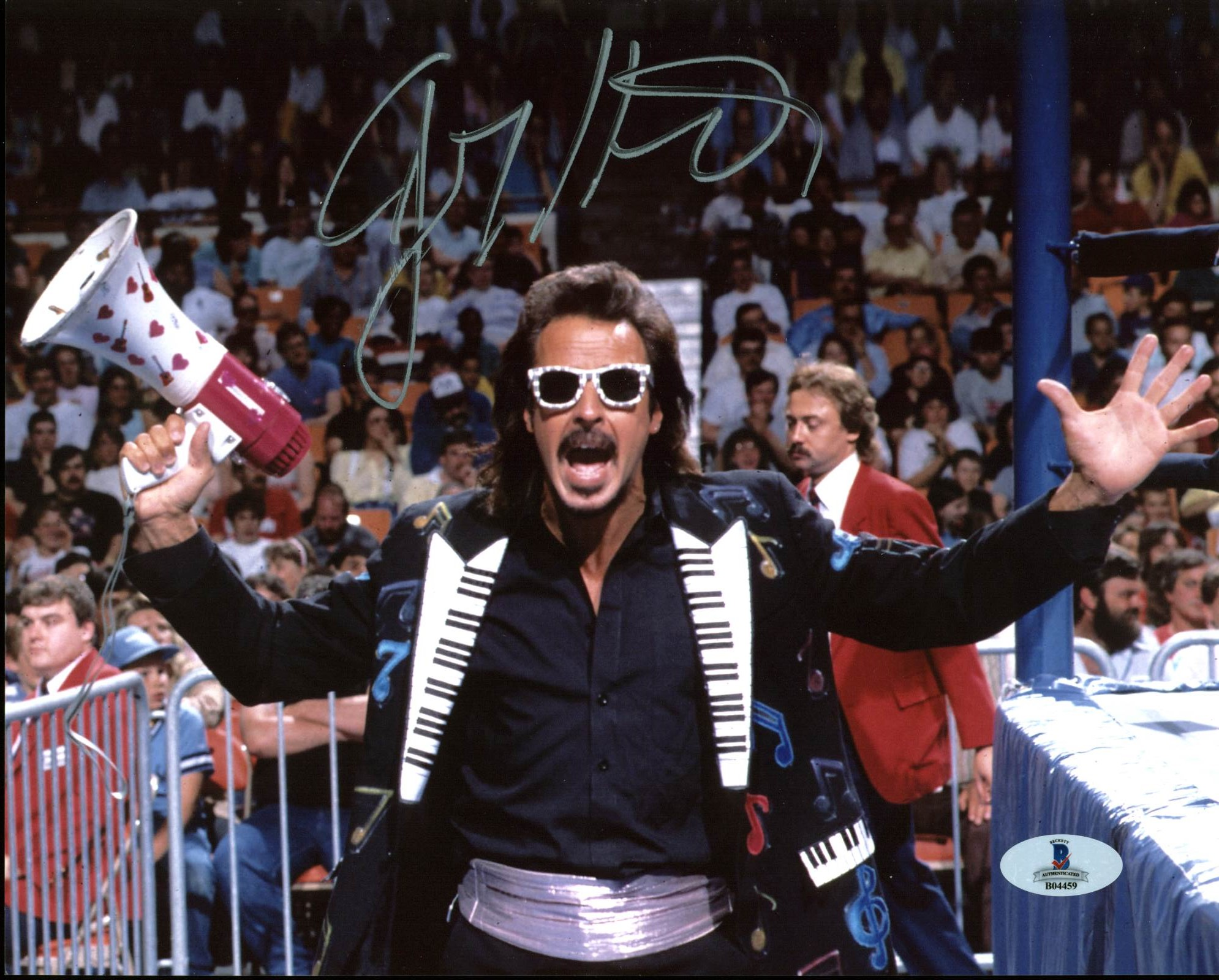 Jimmy Hart WWE Wrestling Authentic Signed 8X10 Photo Autographed BAS #B04459