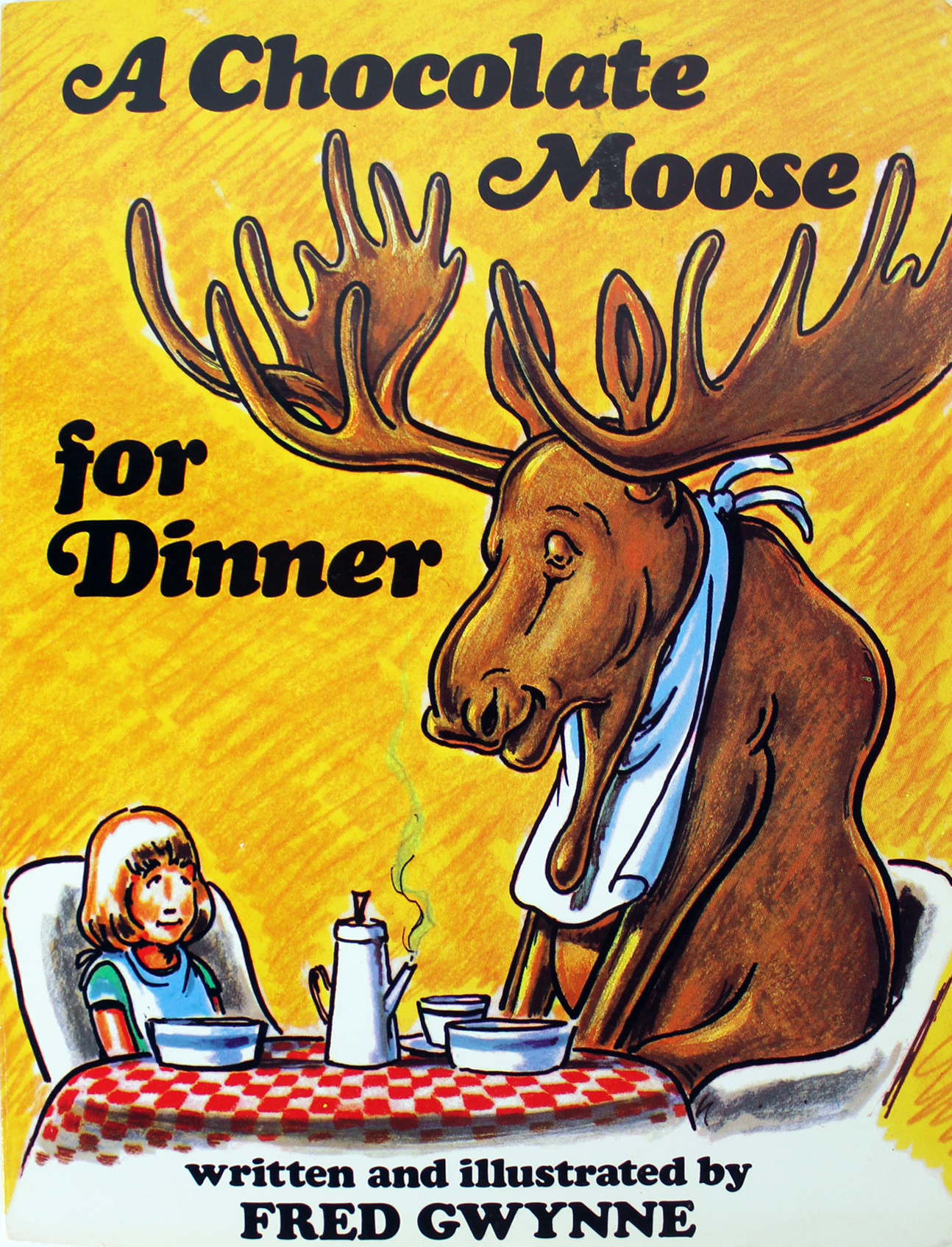 Fred Gwynne Signed A Chocolate Moose For Dinner Book & Sketch BAS ...
