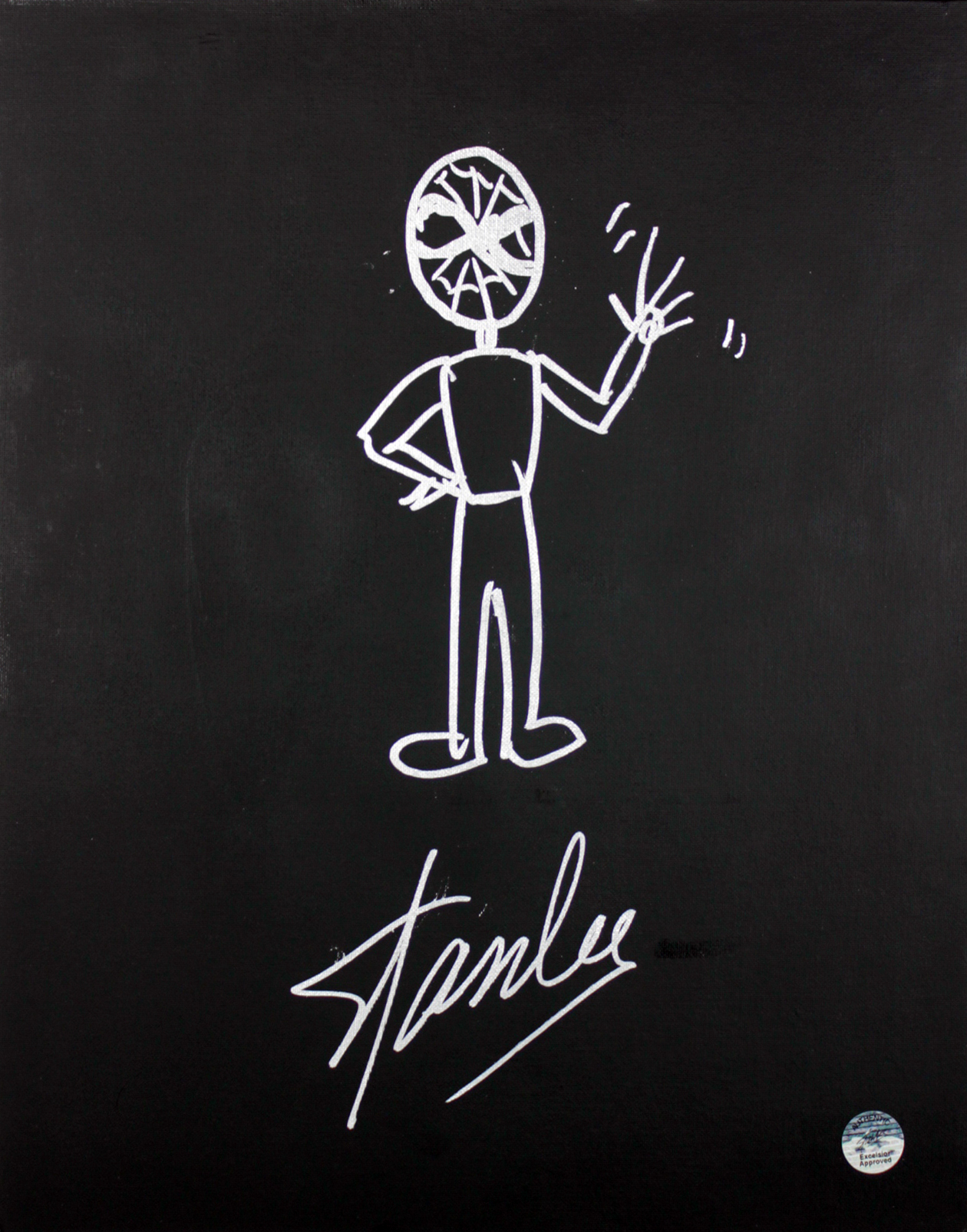 Stan Lee Authentic Signed 16x20 Canvas w/ Spider-man Sketch PSA/DNA #W00380