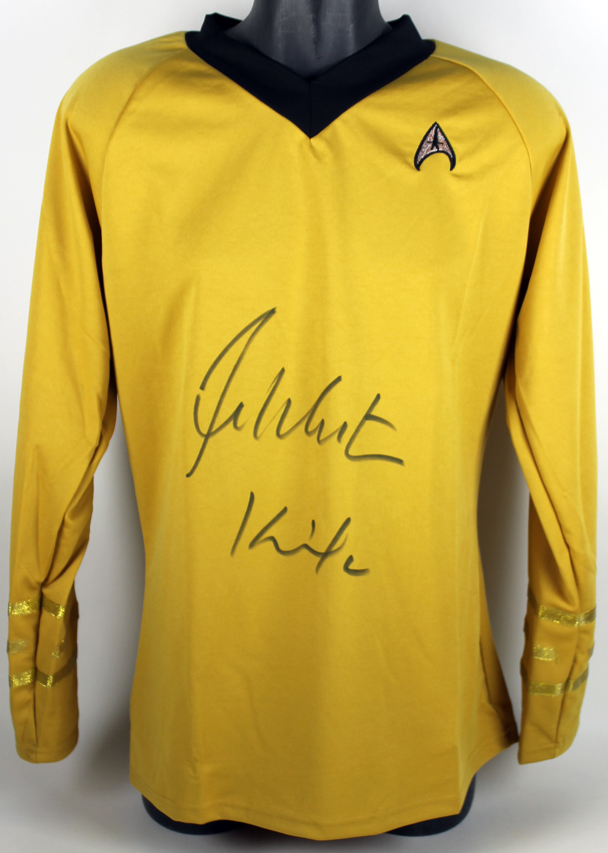 "William Shatner Star Trek ""Kirk"" Authentic Signed Uniform Shirt BAS #B91379"