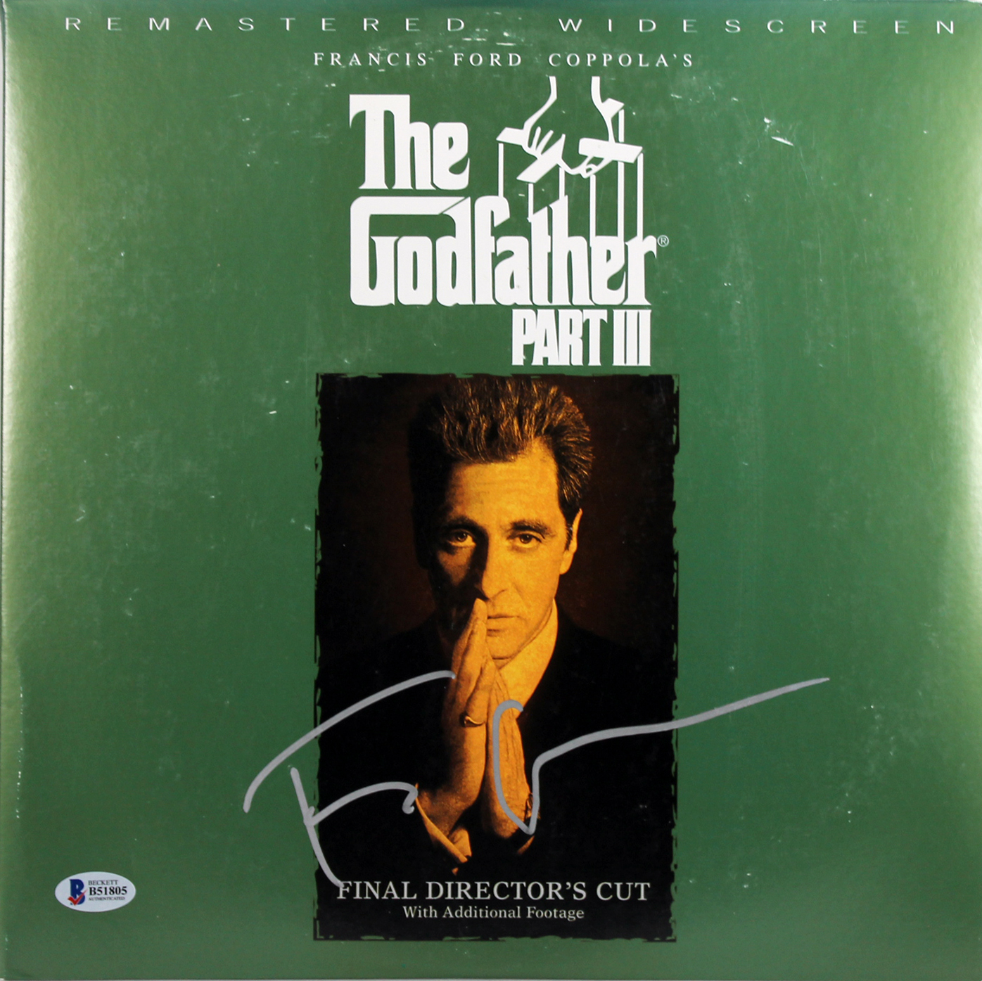 Francis Ford Coppola The Godfather III Authentic Signed Laser Disc BAS #B51805