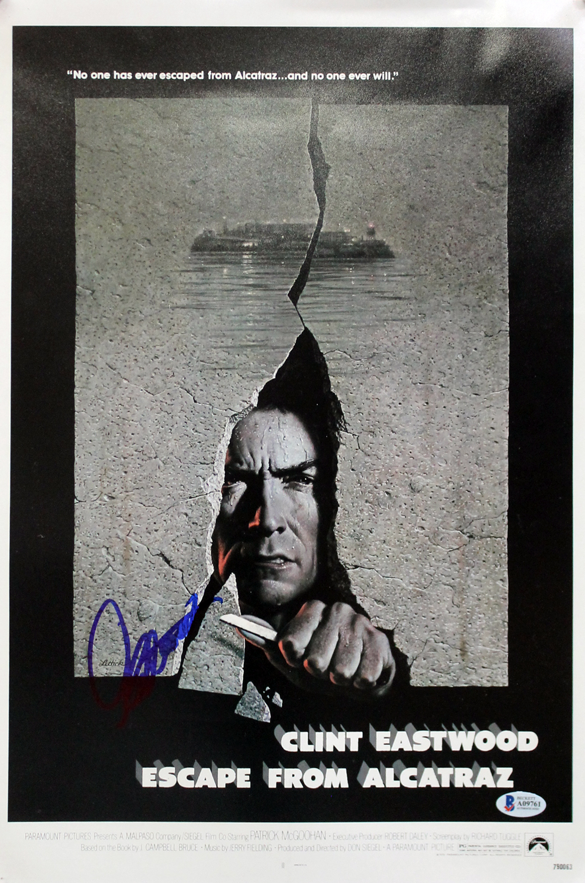 Clint Eastwood Escape From Alcatraz Authentic Signed 12x18 Photo BAS #A09761