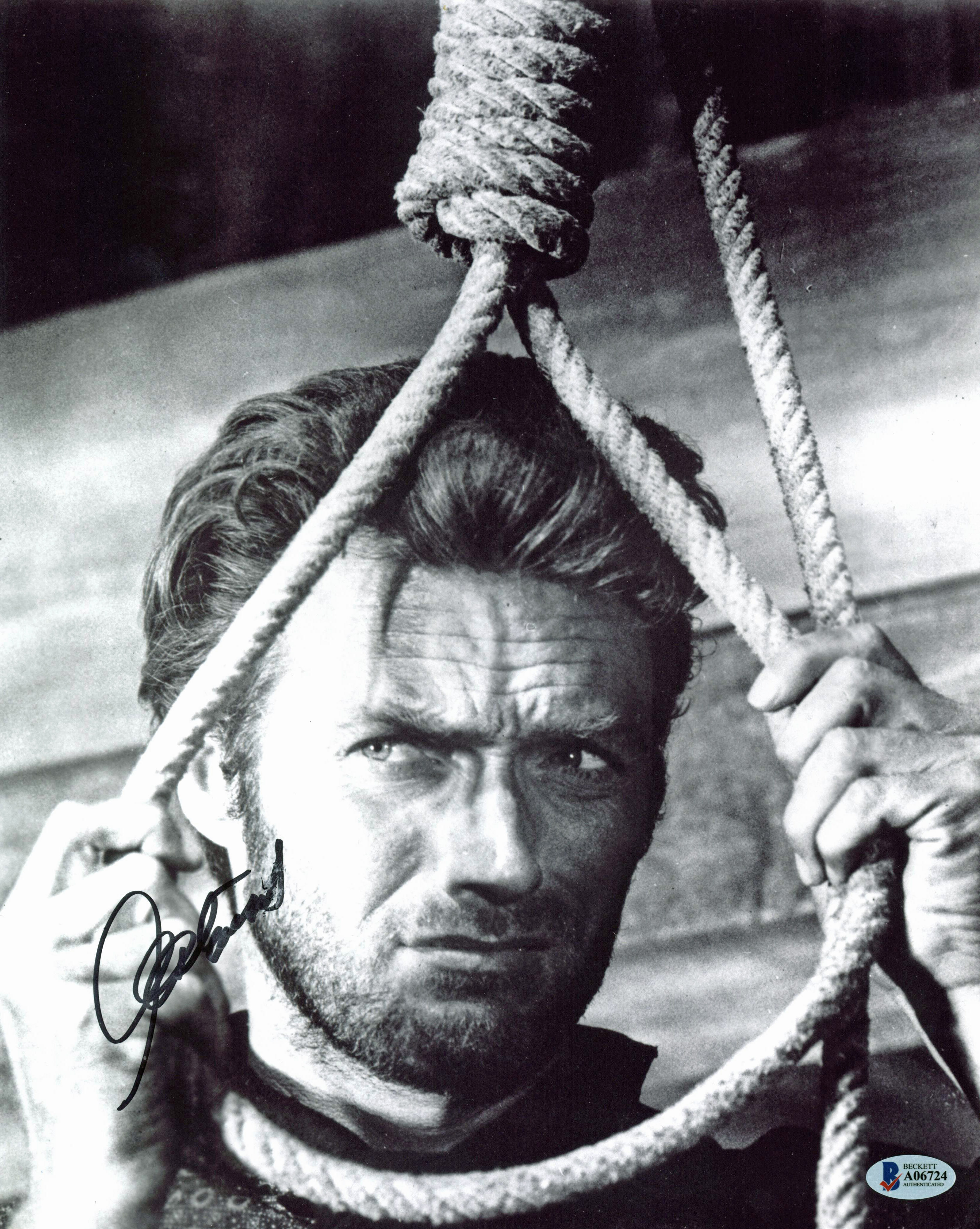 Clint Eastwood The Good, the Bad and the Ugly Signed 11X14 Photo BAS #A06724