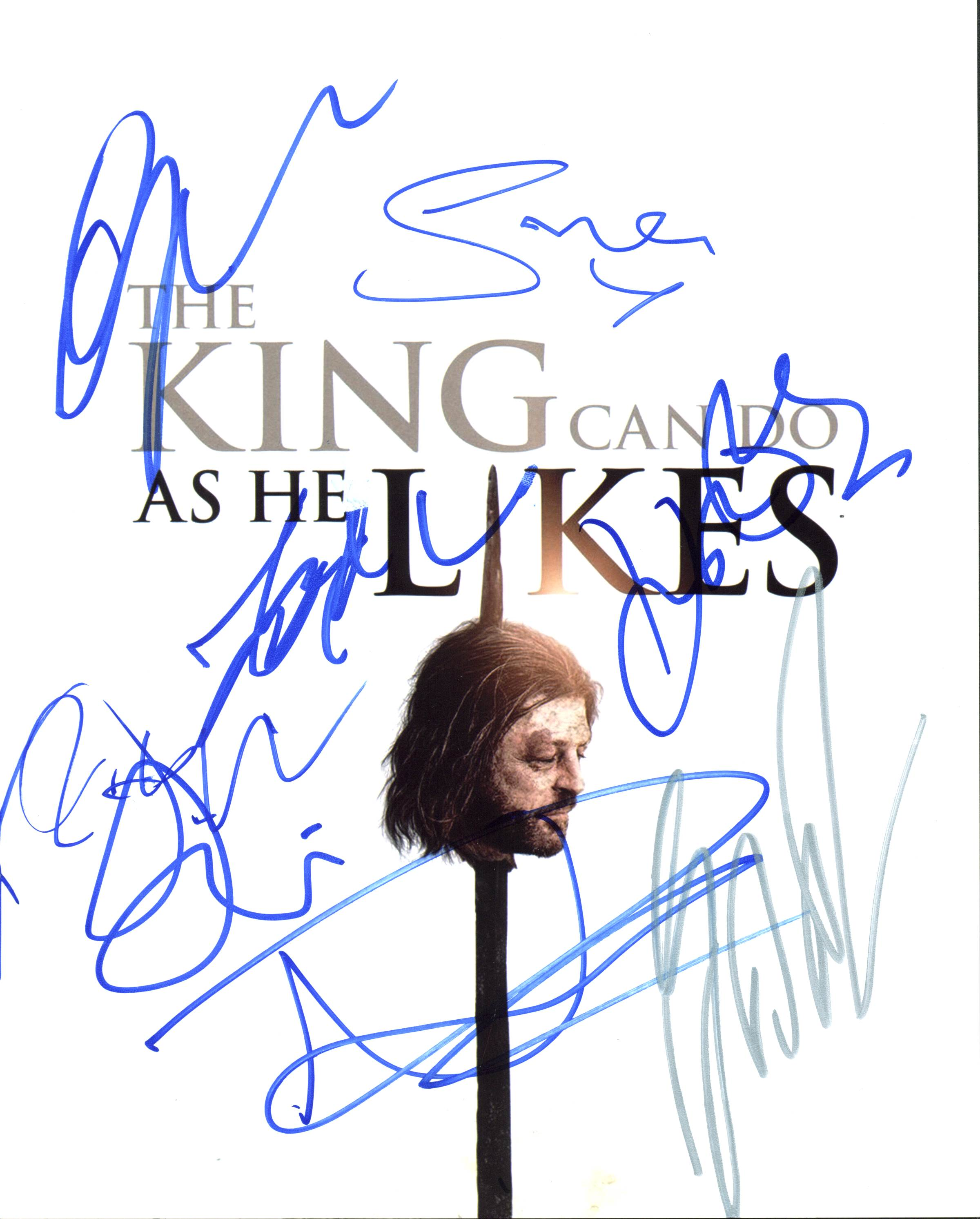 Game Of Thrones (George R.R. Martin + 7) Authentic Signed 8X10 Photo BAS #A10267