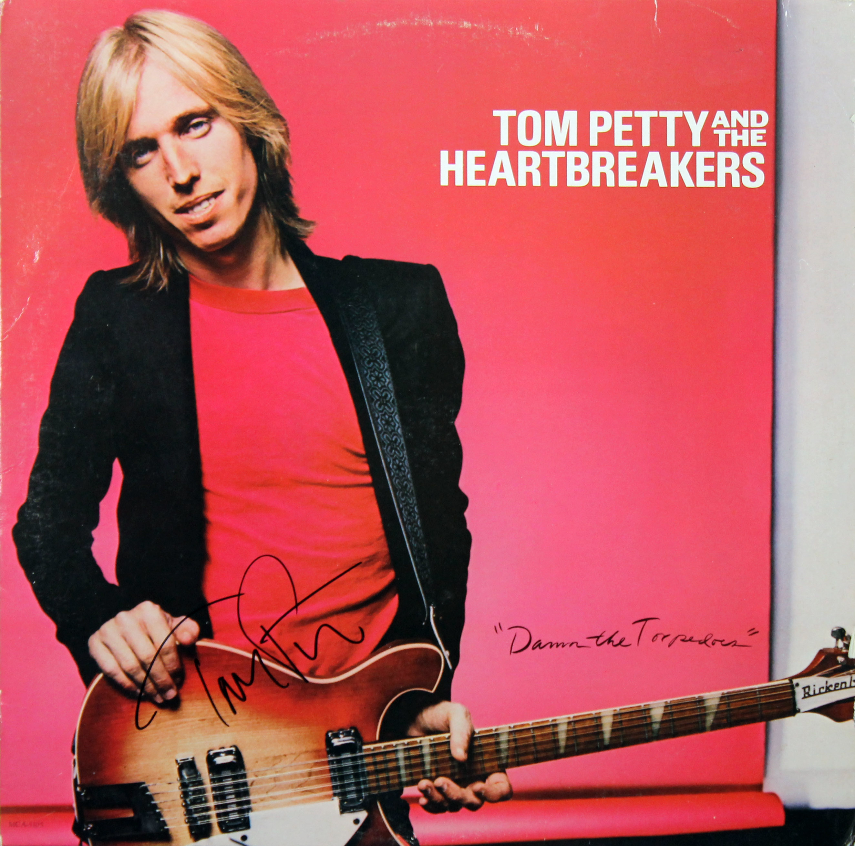 tom petty damn the torpedoes signed album cover w vinyl autographed jsa q03719 ebay